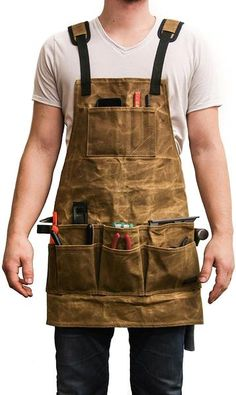 Woodworking For Kids Readywares Waxed Canvas Tool Apron Woodworking Apron, Woodworking For Kids, Woodworking Skills, Popular Woodworking, Woodworking Videos, Woodworking Furniture, Woodworking Crafts, Woodworking Projects, Wood Projects