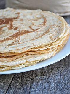 Organic Cooking, Crepe Cake, Mille Crepe, French Desserts, Pancakes, Breakfast Recipes, Vegan, Veggies, Ethnic Recipes