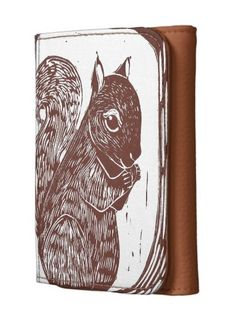 Sold! Thank you to the customer and enjoy! Squirrel Leather Wallet; Abigail Davidson Art; ArtisanAbigail at Zazzle