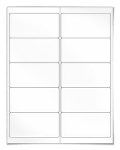 "Free blank label template download: WL-125 template in Word .doc, PDF and other formats. Same size as Avery® 5163 template. View here: http://www.worldlabel.com/Pages/wl-ol125.htm | Size: 4"" x 2"" 