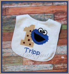 Cookie Monster Birthday Number Bib