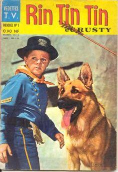 Rintintin le berger avec rusty l'enfant soldat du régiment de son père capitaine, est une série télévisée américaine en 164 épisodes de 25 minutes, en noir et blanc, créée par Lee Duncan et diffusée entre le 15 octobre 1954 et le 8 mai 1959 sur le réseau ABC. Wikipédia