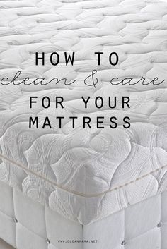 It's the perfect time to clean your mattress with the new year. Follow these easy suggestions to get the job done.