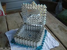 Jewelry box with mirror made from potato chip bags | eBay
