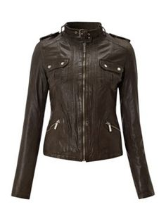 f8f9b3036396 Shop Women s MICHAEL Michael Kors Leather jackets on Lyst. Track over 457 MICHAEL  Michael Kors Leather jackets for stock and sale updates.