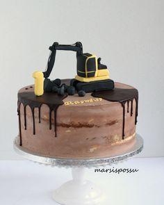 Construction Party Cakes, Construction Birthday Parties, 2nd Birthday Parties, Baby Boy Birthday Cake, Truck Birthday Cakes, Cookie Bars, Themed Cakes, Cake Decorating, Elmo
