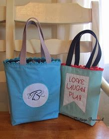 Whimsical Fabric: February's Tutorial Tuesday - the VBg Reversible Quick Tote