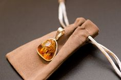 Silver and Amber Prendant Sterling 925 silver by BalticBeauty925