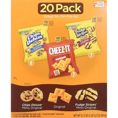 Keebler Cookies and Cheez-It Crackers Snack Packs Variety Pack, 20 Count (Packaging May Vary) #GroceryGourmetFood