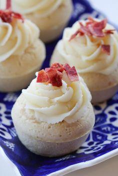 Turkey Bacon Breakfast Cupcakes