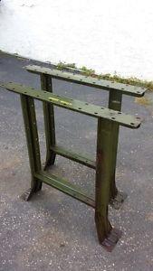 Vintage Industrial Shop Table Legs ~ Heavy Duty Steel Workbench Legs