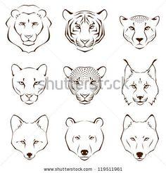 Resultado de imagen de lion outline tattoo