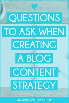 Creating a blog content strategy will help you stay focused and treat your blog like a business. Here are 6 questions to ask when creating your blog content strategy.