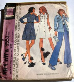 Retro pattern: Mccalls 3553 Misses Dress or Shirt Size 14