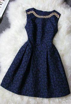 Retro Luxury Diamond Jacquard Collar Sleeveless Dress on Luulla on We Heart It Pretty Outfits, Pretty Dresses, Beautiful Dresses, Jw Mode, Dress Outfits, Fashion Dresses, Maxi Dresses, Summer Dresses, Dress Skirt