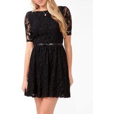 FOREVER 21 Lace Surplice Back Dress w/ Belt ($29) via Polyvore