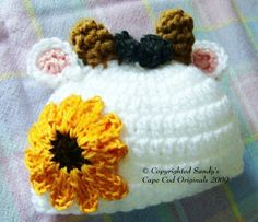 Baby Calf Beanies Infants to Adults Crochet by SandysCapeCodOrig, $4.00