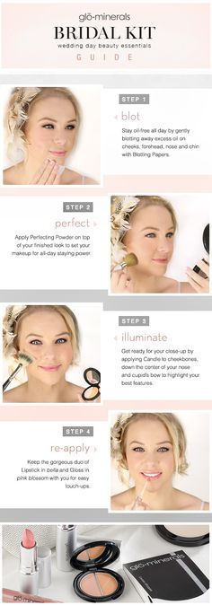 glo minerals Bridal Kit: Wedding Day Beauty Essentials I love this kit!  Plus, that's me!