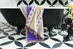 Woven fabric beach blanket, towel, and wrap