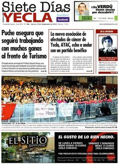 portada del siete dias yecla ya disponible en librerias y estaciones de servicio de yecla
