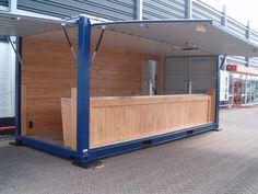 Speciaalbouw 20-voets container voor Troost Catering. Container is door ons voorzien van klep over de gehele lengte, hydraulisch afzetsysteem,... www.jozua-aanhangwagens.nl