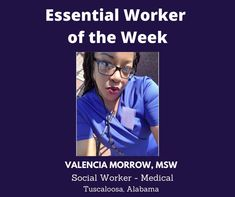 Essential Worker of the Week: Today, I'd like to Valencia Morrow, MSW, Social Worker-Medical from Tuscaloosa, Alabama. We are grateful for you. Thank you for your service! Unsung Heroes by Benita Charles honors our Essential Workers! #newmusic #unsungheroes #essentialworkers #honor #thankyou #ValenciaMorrow #medical #socialwork #tuscaloosa #alabama #awesome Unsung Hero, Grateful For You, Singing Tips, Social Work, New Music, Valencia, Tuscaloosa Alabama, Medical, Shit Happens