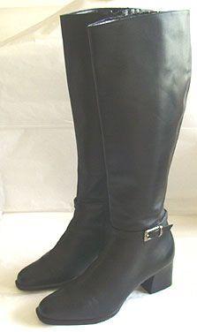 Sudini Leather Black Boots