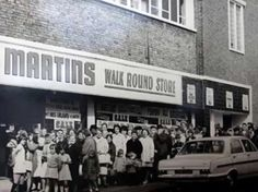 Martins store in Goodson St, Hanley, where Abakhan Fabrics is now.