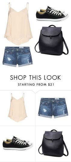 """summer"" by alishabbarton on Polyvore featuring Alice + Olivia, AG Adriano Goldschmied and Converse"