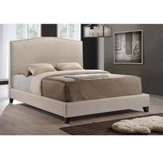 baxton studio aisling light beige modern platform bed by baxton studio - Bed Frame Deals