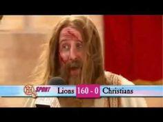 HORRIBLE HISTORIES - Christians vs Lions (post match interview)
