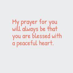 Sprinkles. Prayer. Peaceful heart.