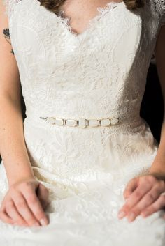 Nora belt with ivory and crystal beading by hushedcommotion