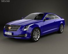 3D model of Cadillac ATS coupe 2015