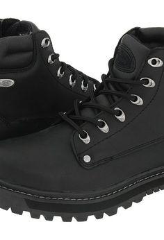 SKECHERS Pilot (Black Oily Leather) Men's Lace-up Boots - SKECHERS, Pilot, 4473 BOL, Men's Casual Boots, Lace-Up, Casual Lace-up, Boot, Footwear, Shoes, Gift, - Fashion Ideas To Inspire