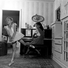 @ * Not originally published in LIFE. * Natalie Wood practices as her 16-year-old sister Olga plays a Chopin waltz, 1945.