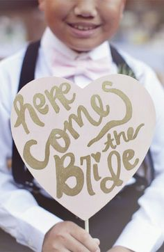 """""""Here comes the bride."""" Style of font"""