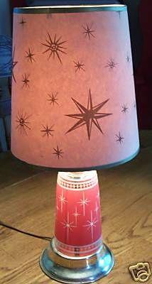 Atomic '50s drinking glass lamp