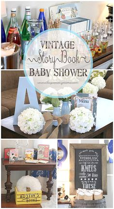 pinning this for sarahs shower--Vintage Story Book Sip n See for baby boy! This is adorable!