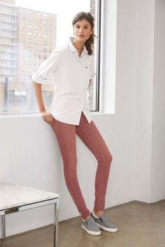L2018  Różowy Obcisłe jeansy z Bi-stretchu Flex