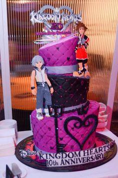 Kingdom Hearts anniversary cake