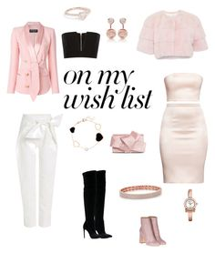 """""""#PolyPresents: Wish List"""" by encsikee on Polyvore featuring Laurence Dacade, Ted Baker, Chopard, Balmain, Gucci, Delpozo, Gianni Renzi, Shay, Salvatore Ferragamo and contestentry"""