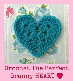A sweet little granny heart. Link to designer's pattern store on etsy.