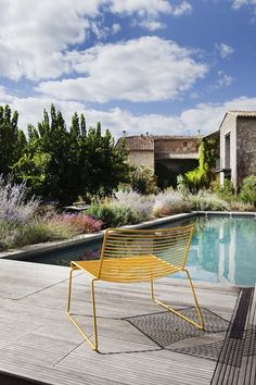 Swimming Pool Ideas : La Maison d'Ulysse – Baron, France – 2011 by Frédéric Jacquot Exterior Design, Interior And Exterior, Pool Piscina, Outdoor Spaces, Outdoor Living, Outdoor Pool, Landscape Design, Garden Design, Josie Loves