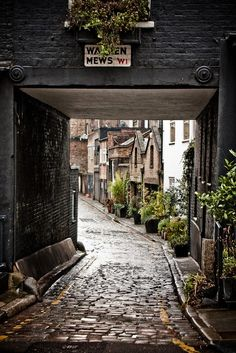 This is Warren Mews in the Fitzrovia neighborhood of Central London. Fitzrovia is just north of Soho. Awesome neighborhood... pubs, restaurants, galleries, all hidden in back alleys... like a lot of places in London. The best parts of London, and the most magical are off the tourist track, in the back alleys.