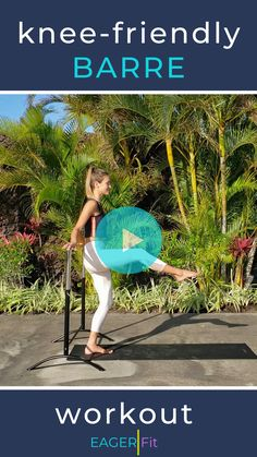 Low impact, knee friendly workout that will work your entire body. No squats, no jumps only moves that are gentle on joints. Barre workouts typically are low. Barre Workout Video, Workout Videos, Barre Workouts, At Home Workouts, C Section Workout, Barre Moves, Full Body Workout At Home, Bad Knees, Low Impact Workout
