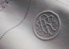 Monogram R D - monogram lace on silver would be great