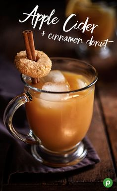 This simple holiday drink recipe is really more like dessert. Simply pour apple cider over ice and garnish with a cinnamon stick and cinnamon donut for a festive touch for all your holiday celebrations. Stop by your Publix for all the ingredients you'll need.