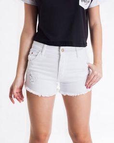 BadCat - Short Cintura Alta Branco