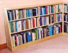Corner Bookshelves Plans - Furniture Plans and Projects | WoodArchivist.com Corner Bookshelves, Bookshelf Plans, Bookcase, Woodworking Plans, Woodworking Projects, Build Something, Wood Creations, Home Jobs, Furniture Plans